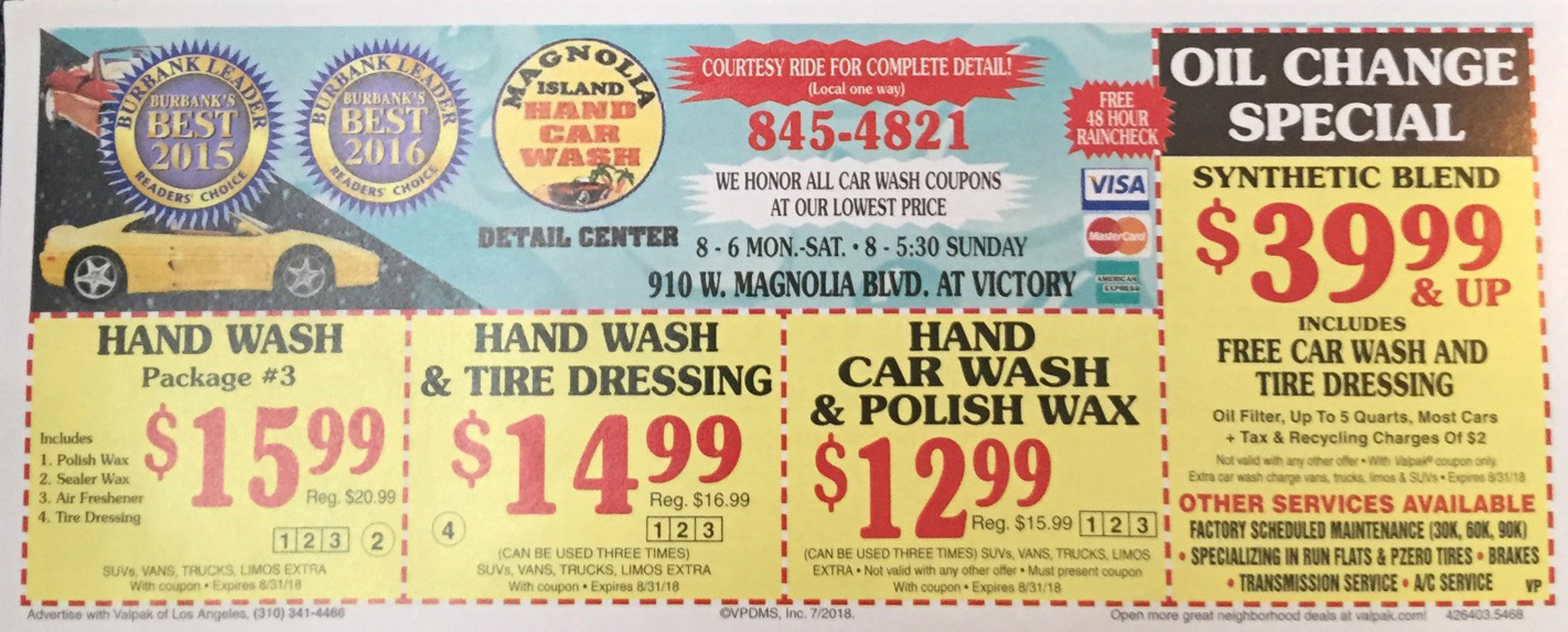Coupon - Magnolia Car Wash